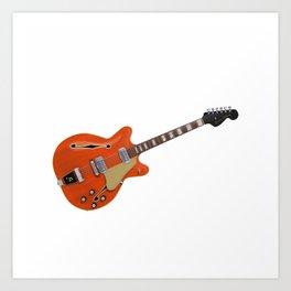 Hollow Body Guitar Art Print