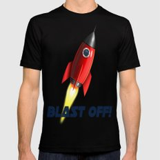 Blast Off! MEDIUM Mens Fitted Tee Black