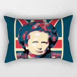 Margaret Thatcher Iron Lady Pop Art Rectangular Pillow