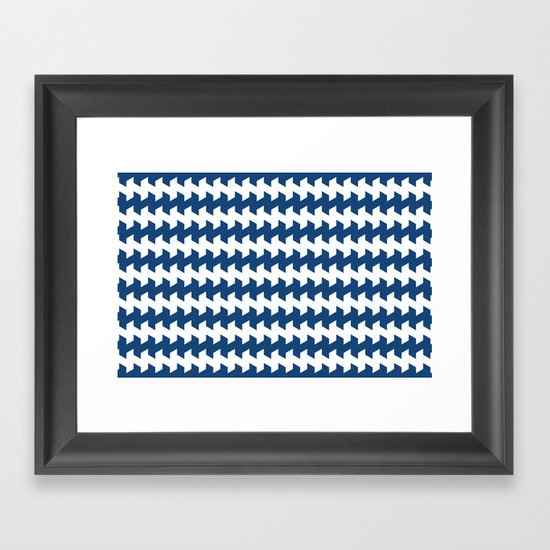 jaggered and staggered in monaco blue Framed Art Print