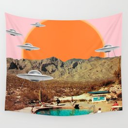 They've arrived! (Square) Wall Tapestry
