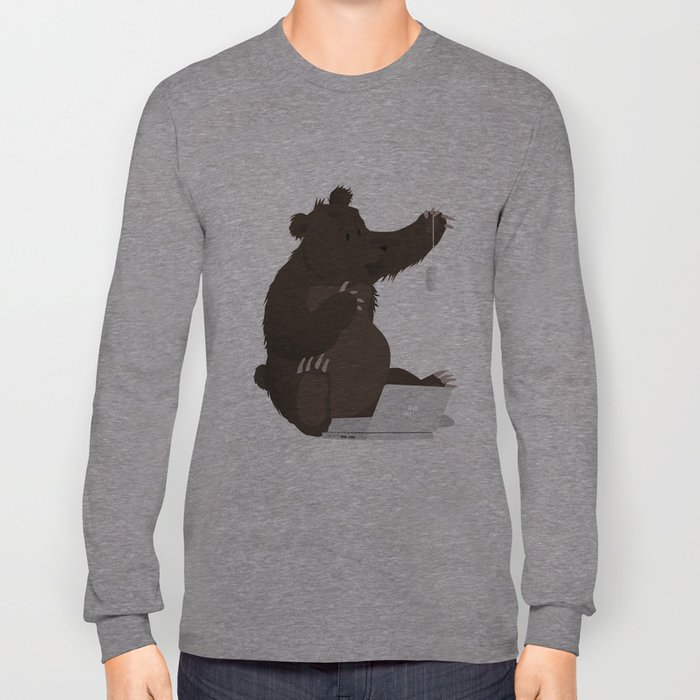 Bear With Me Bro! Poster Long Sleeve T-shirt