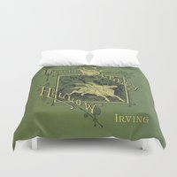 book cover Duvet Covers featuring Sleepy Hollow Antique Book Cover by Even Oddities