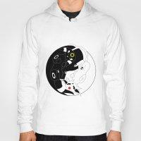 ying yang Hoodies featuring Ying & Yang by Kurew Kreations