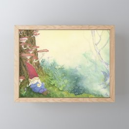 The Sleeping Gnome Framed Mini Art Print