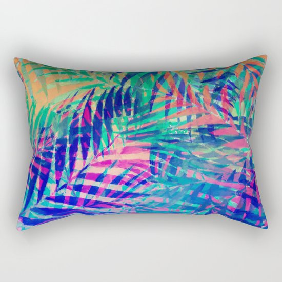 Colorful abstract palm leaves 2 Rectangular Pillow