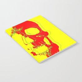 Skull - Red Notebook