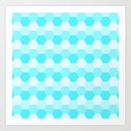 Aqua Honeycomb Art Print