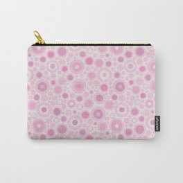 Bubblicious polka dot pink and white bubbles Carry-All Pouch