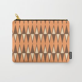 Mid Century Modern Diamond Pattern Brown Orange 231 Carry-All Pouch