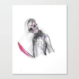 Jason in ink Canvas Print