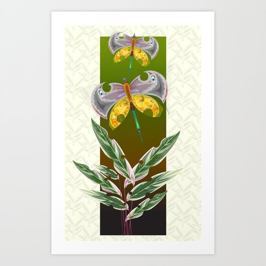 Moths#3 Art Print