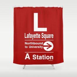 Lafayette Square Northbound Shower Curtain