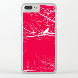 The Lonely Bird in the Tree V Clear iPhone Case