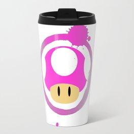 Pink Mushroom Travel Mug