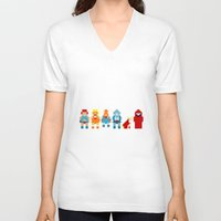 thundercats V-neck T-shirts featuring Thundercats by Pixel Icons