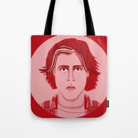 breakfast club Tote Bags featuring The Breakfast Club - Bender by Priscila Floriano