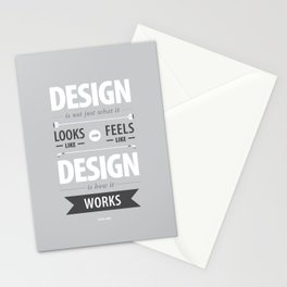 Design is how it works Stationery Cards