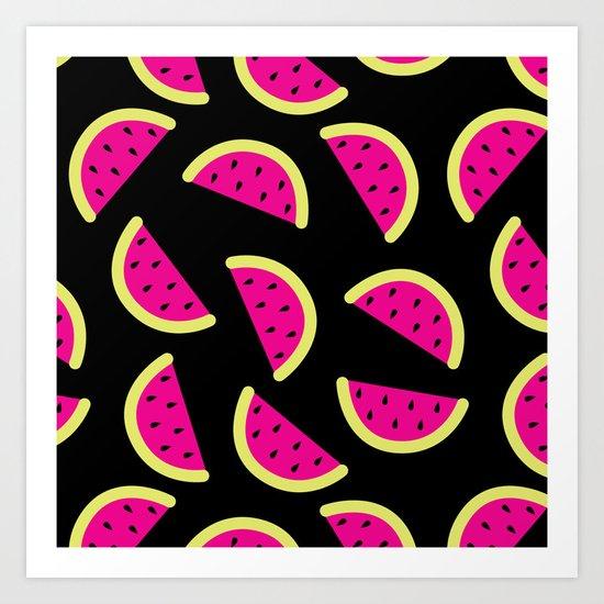 Watermelon Crush Art Print