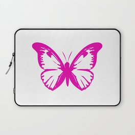 Hot Pink Butterfly  Laptop Sleeve