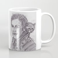 starlord Mugs featuring Starlord by jamestomgray