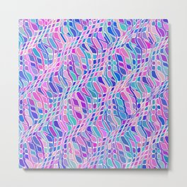 Multicolor Pattern Metal Print