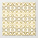 White and Gold Geometric Pattern 2 by klaraacel