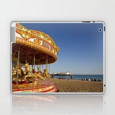Golden Carousel at the Beach Laptop & iPad Skin