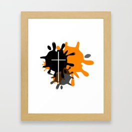 Cross Splash Framed Art Print