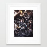 triforce Framed Art Prints featuring triforce by chewiebaka