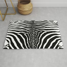 Zebra Stripes Print Rug