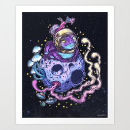 Space Toad Art Print