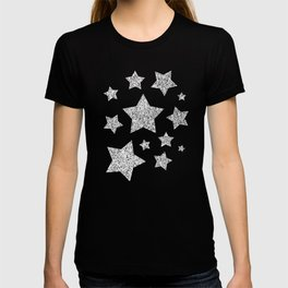 Beautiful Silver glitter sparkles T-shirt