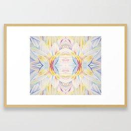 Opal Lotus Framed Art Print