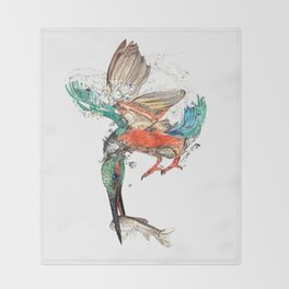 kingfisher Throw Blanket