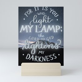 You Light My Lamp Mini Art Print