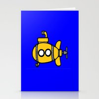yellow submarine Stationery Cards featuring Yellow Submarine by Caroline Blicq