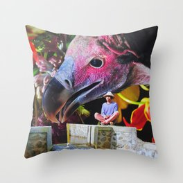 Thirsty Vulture Throw Pillow