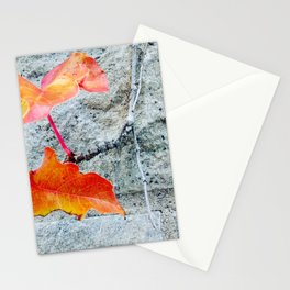 Red Leaves Growing by the Wall. Autumn, Fall Stationery Cards
