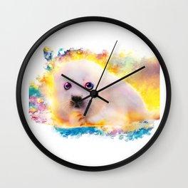 curious seal Wall Clock