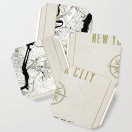 New York City Vintage Location Design Coaster