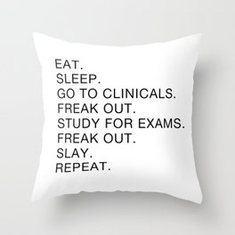 Clinical, Nursing Student, Med Student Throw Pillow