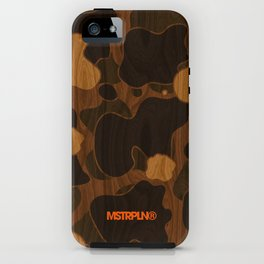 Modern Woodgrain Camouflage / Duck Print iPhone Case