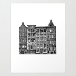 Dutch Canal House Art Print