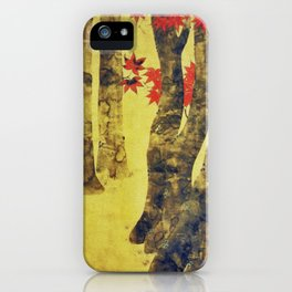 Anata In Red and Gold iPhone Case