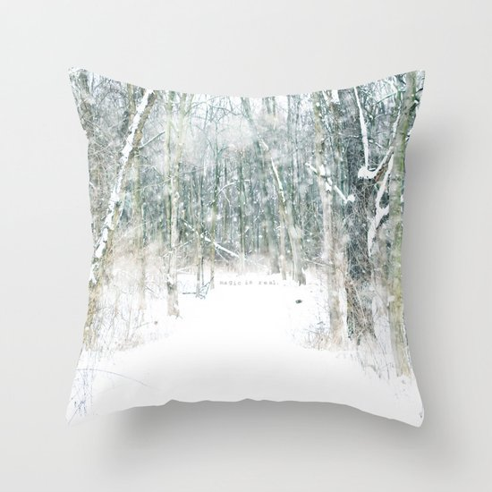 Magic Snow Throw Pillow