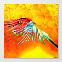 parrot Canvas Prints featuring Parrot by Joe Ganech