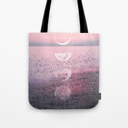 Glitches at Sunset Tote Bag