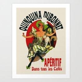 Vintage Aperitif Bar Decor Ad Art Print