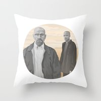 breaking bad Throw Pillows featuring Breaking Bad by ketizoloto